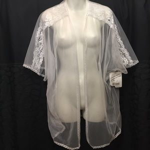 New vintage sheer robe cover up M